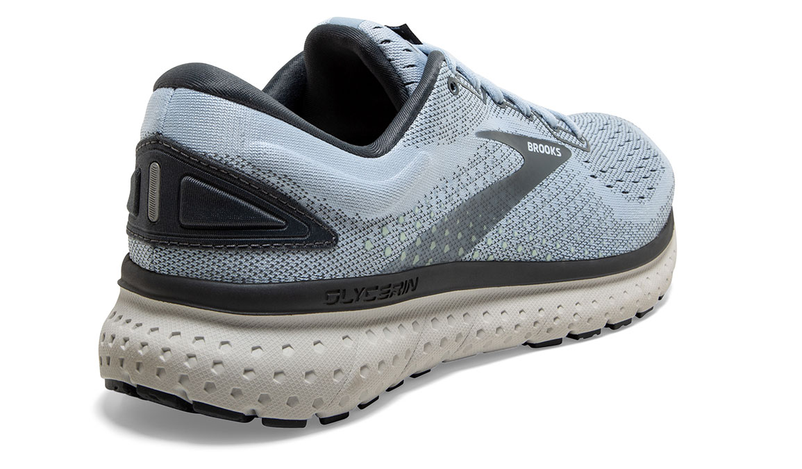 Women's Brooks Glycerin 18 Running Shoe - Color: Kentucky/Turbulence (Regular Width) - Size: 6, Blue/Grey, large, image 3
