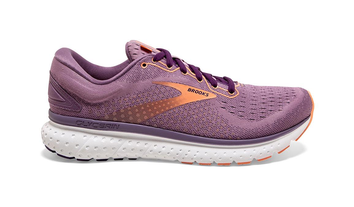 Women's Brooks Glycerin 18 Running Shoe - Color: Valerian/Jewel (Regular Width) - Size: 6, Purple, large, image 1