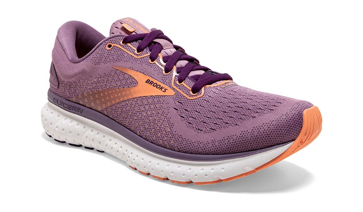Women's Brooks Glycerin 18 Running Shoe - Color: Valerian/Jewel (Regular Width) - Size: 6, Purple, large, image 2