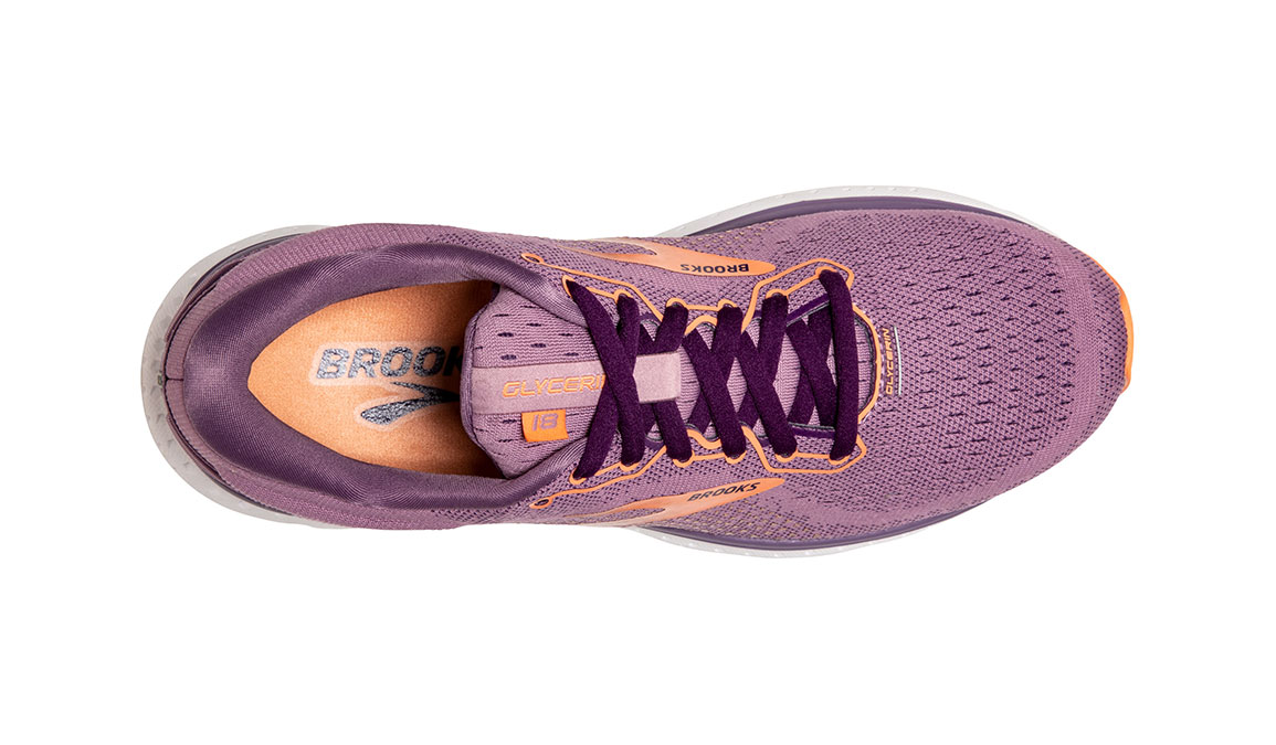 Women's Brooks Glycerin 18 Running Shoe - Color: Valerian/Jewel (Regular Width) - Size: 6, Purple, large, image 5