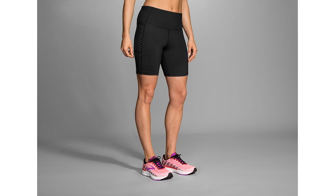 "Women's Brooks Greenlight 7"" Short Tights - Color: Black Size: L, Black, large, image 1"