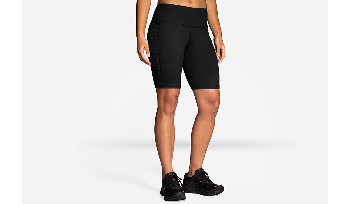 "Women's Brooks Greenlight 9"" Short Tight  - Color: Black Size: XS, Black, large, image 1"