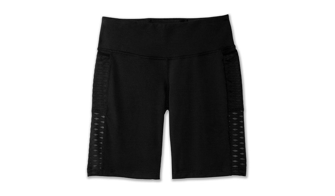 "Women's Brooks Greenlight 9"" Short Tight - Color: Black Size: XS, Black, large, image 6"