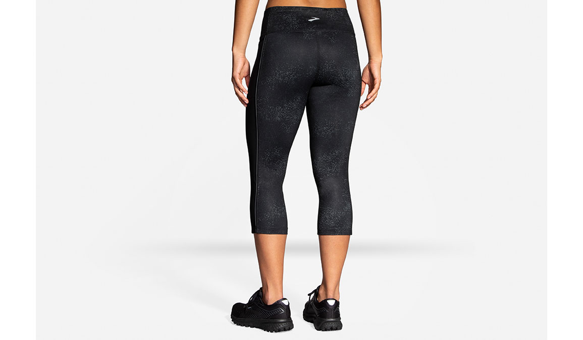 Women's Brooks Greenlight Capri  - Color: Black Speck/Asphalt Size: XS, Black/Grey, large, image 3