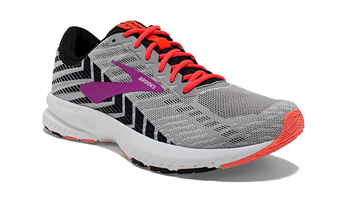 Women's Brooks Launch 6 Running Shoe - Color: Grey/Black/Purple (Regular Width) - Size: 6, Grey/Purple, large, image 2
