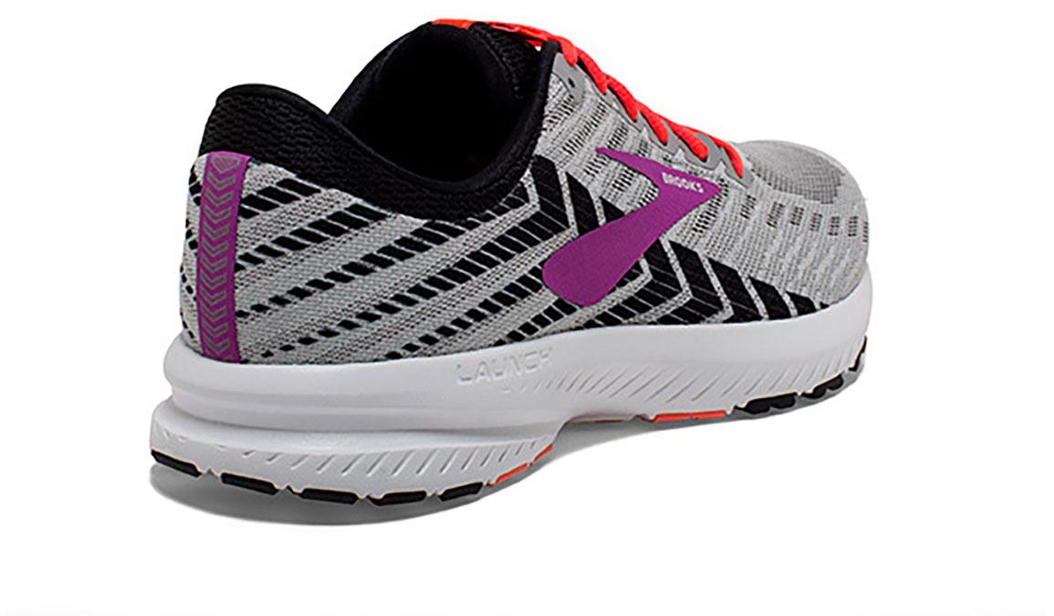 Women's Brooks Launch 6 Running Shoe - Color: Grey/Black/Purple (Regular Width) - Size: 6, Grey/Purple, large, image 3