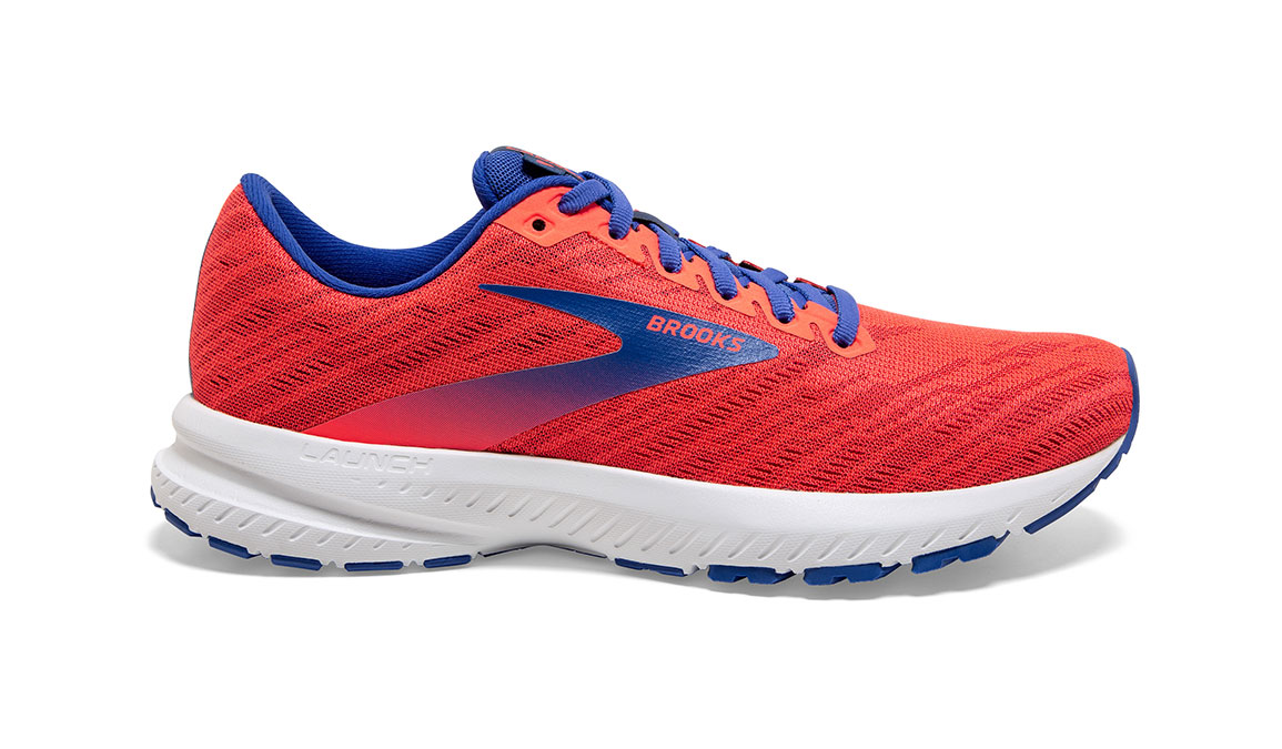 Women's Brooks Launch 7 Running Shoe - Color: Coral/Blue (Regular Width) - Size: 6.5, Coral, large, image 1