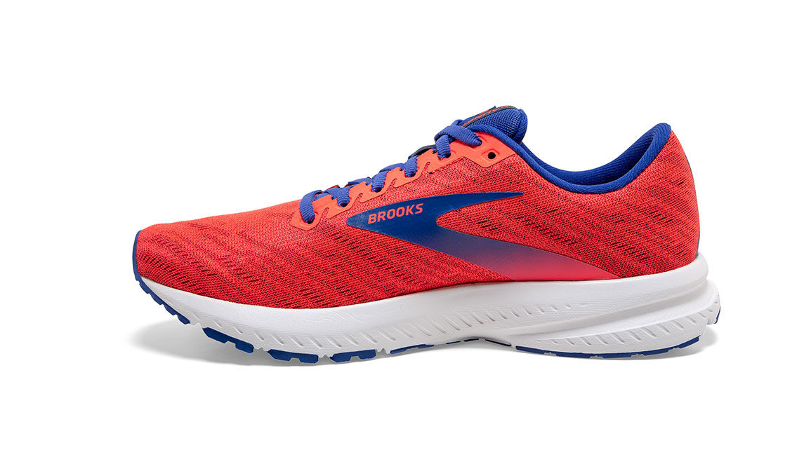 Women's Brooks Launch 7 Running Shoe - Color: Coral/Blue (Regular Width) - Size: 6.5, Coral, large, image 2