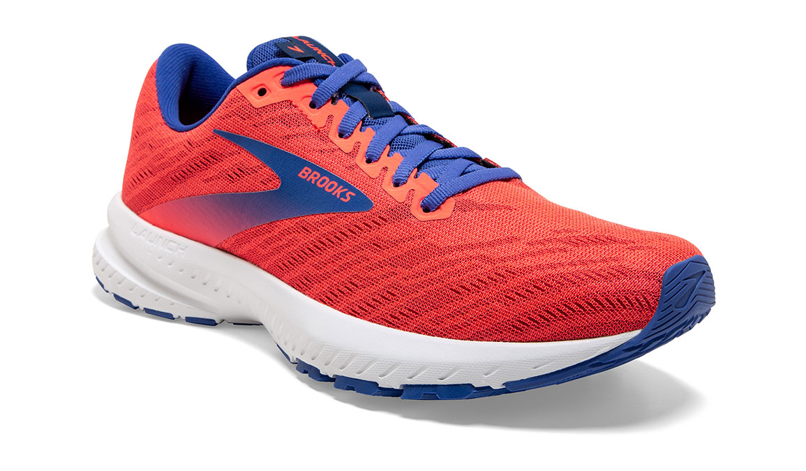 Women's Brooks Launch 7 Running Shoe - Color: Coral/Blue (Regular Width) - Size: 6.5, Coral, large, image 3