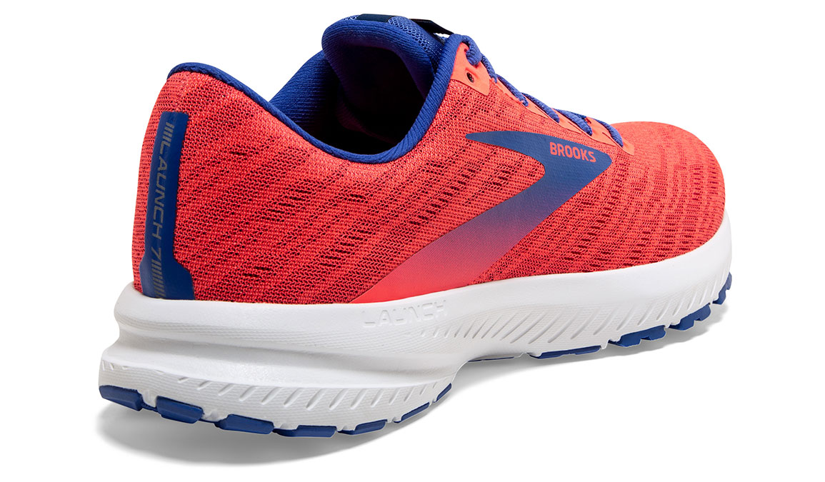 Women's Brooks Launch 7 Running Shoe - Color: Coral/Blue (Regular Width) - Size: 6.5, Coral, large, image 4