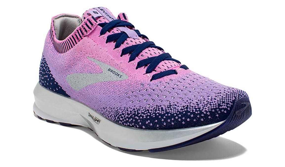 Women's Brooks Levitate 2 Running Shoe - Color: Navy/Lilac (Regular Width) - Size: 6, Navy/Purple, large, image 2