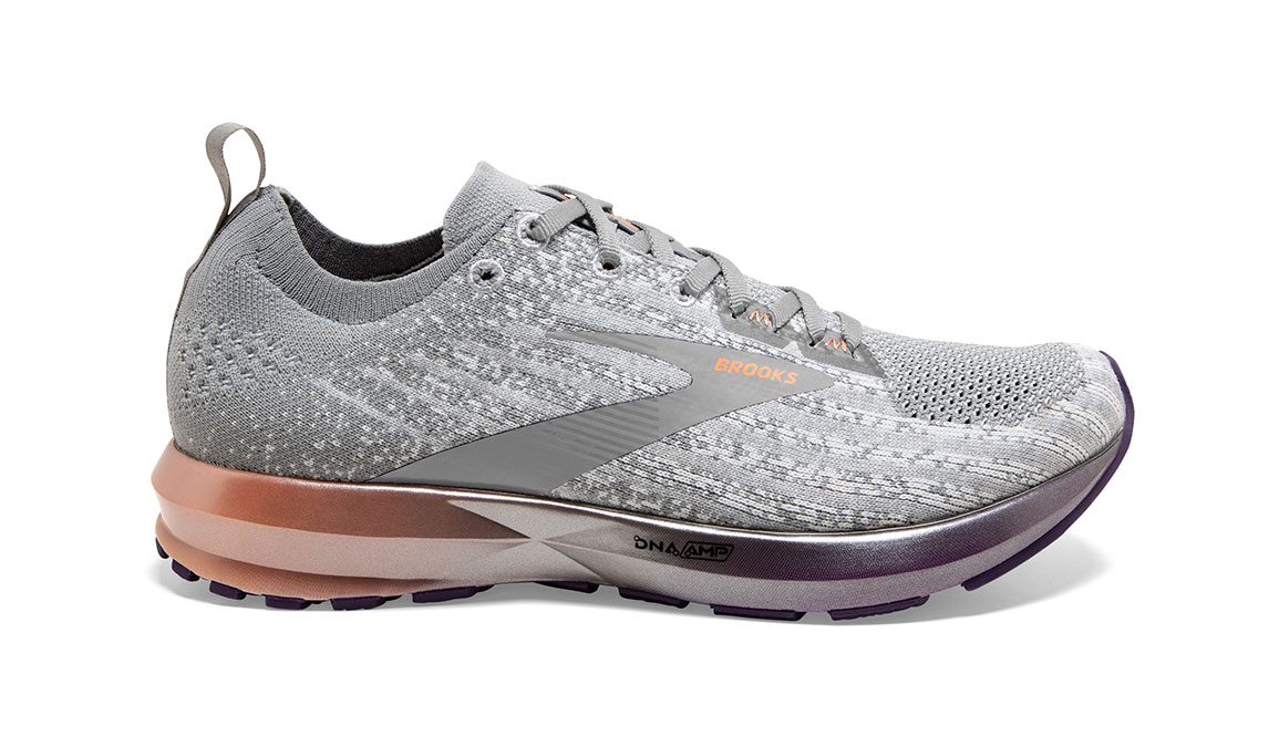 Women's Brooks Levitate 3 Running Shoe - Color: White/Purple/Cantaloupe (Regular Width) - Size: 6.5, White/Purple, large, image 1