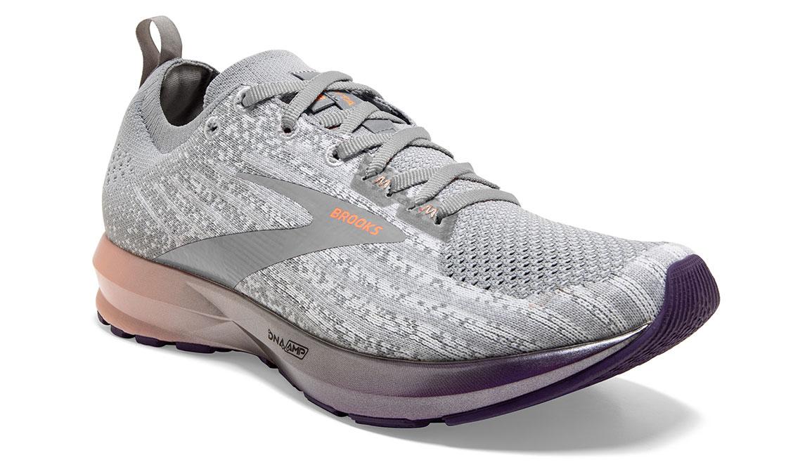Women's Brooks Levitate 3 Running Shoe - Color: White/Purple/Cantaloupe (Regular Width) - Size: 6.5, White/Purple, large, image 2