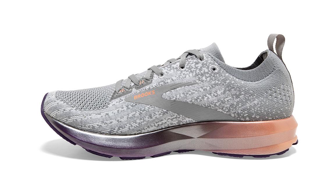 Women's Brooks Levitate 3 Running Shoe - Color: White/Purple/Cantaloupe (Regular Width) - Size: 6.5, White/Purple, large, image 4