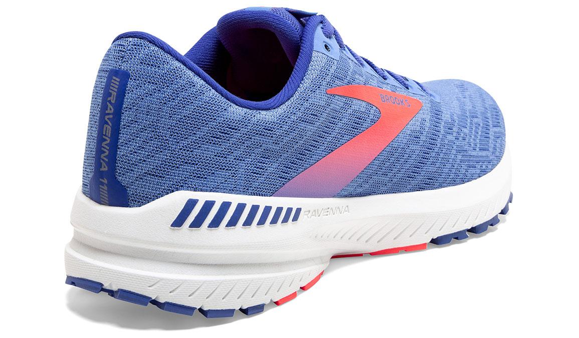 Women's Brooks Ravenna 11 Running Shoe - Color: Cornflower Blue/Coral (Regular Width) - Size: 8, Blue/Coral, large, image 3