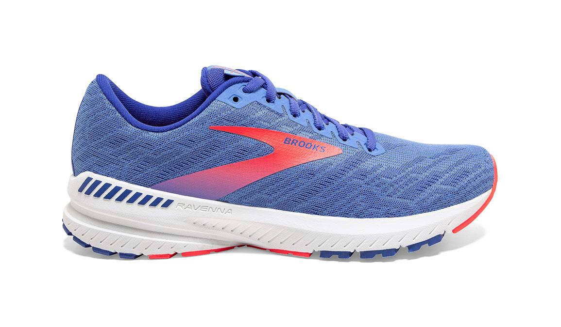 Women's Brooks Ravenna 11 Running Shoe - Color: Cornflower Blue/Coral (Regular Width) - Size: 8, Blue/Coral, large, image 1