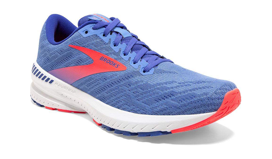 Women's Brooks Ravenna 11 Running Shoe - Color: Cornflower Blue/Coral (Regular Width) - Size: 8, Blue/Coral, large, image 2