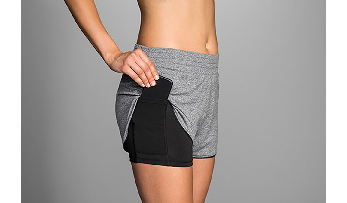 """Women's Brooks Rep 3"""" 2-In-1 Shorts, , large, image 2"""