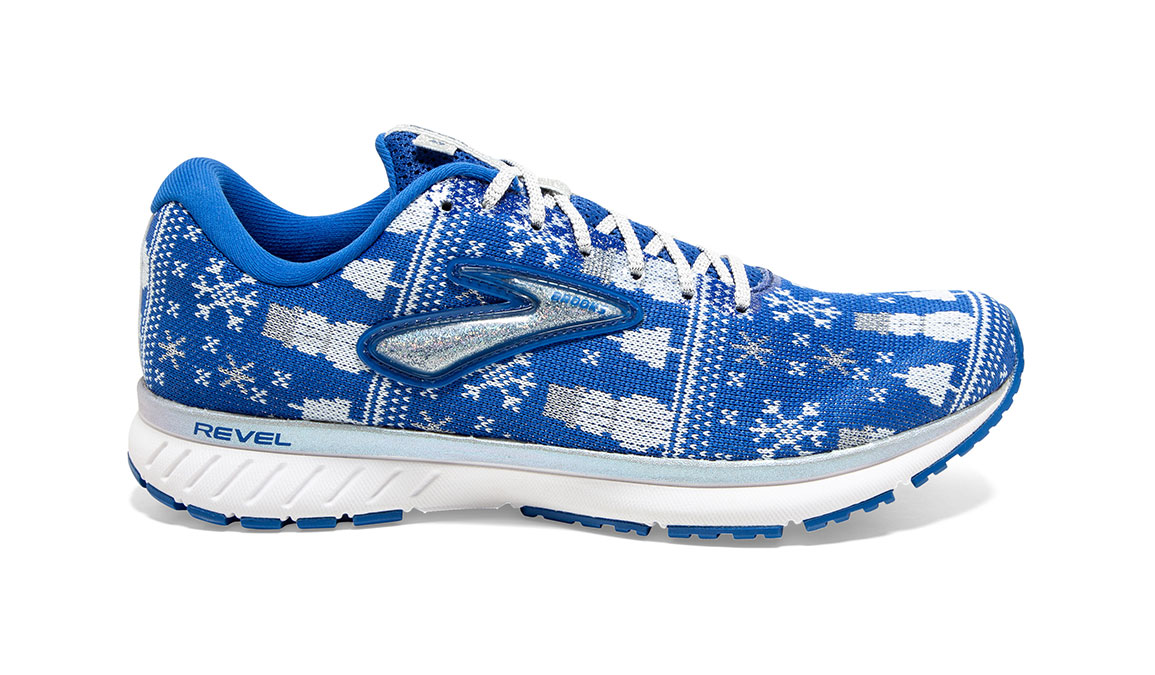 Women's Brooks Revel 3 Run Merry Running Shoe - Color: Blue/White (Regular Width) - Size: 5, Blue/White, large, image 1