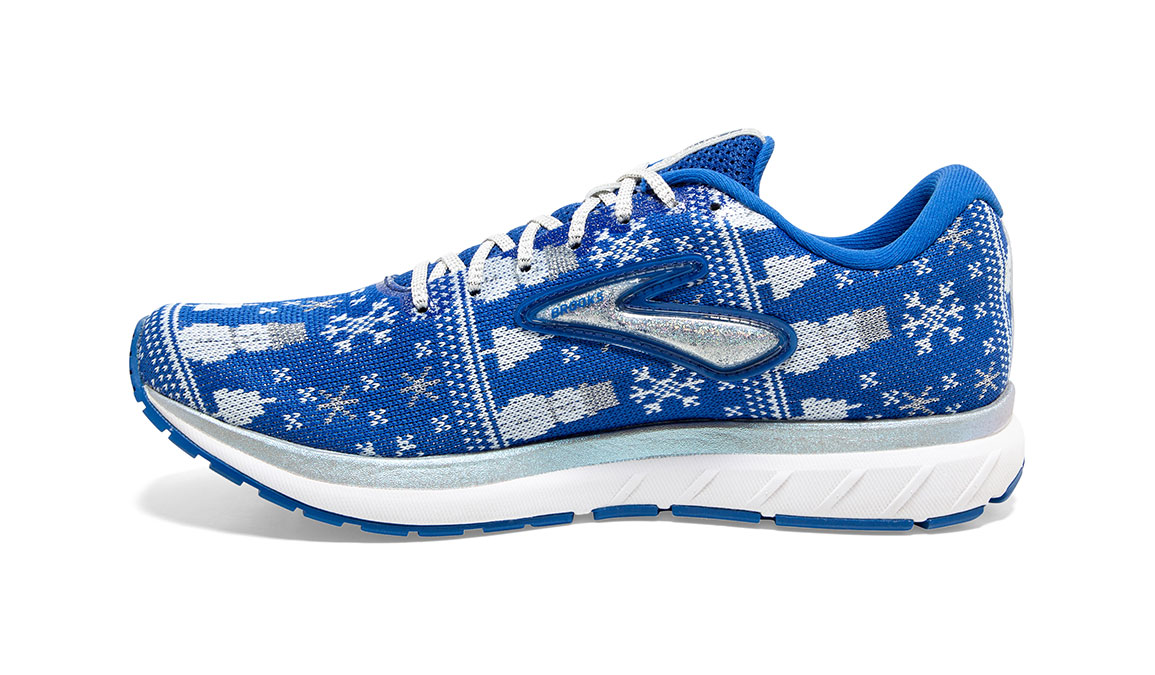 Women's Brooks Revel 3 Run Merry Running Shoe - Color: Blue/White (Regular Width) - Size: 5, Blue/White, large, image 2