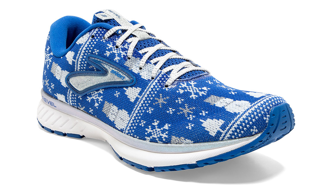 Women's Brooks Revel 3 Run Merry Running Shoe - Color: Blue/White (Regular Width) - Size: 5, Blue/White, large, image 3