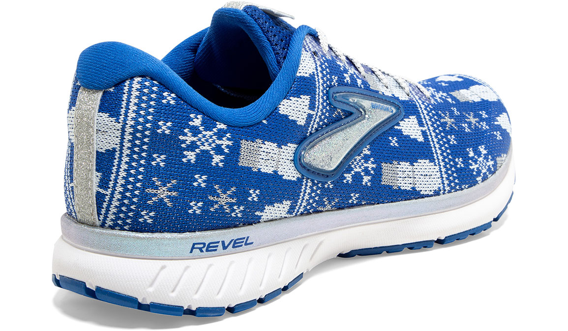 Women's Brooks Revel 3 Run Merry Running Shoe - Color: Blue/White (Regular Width) - Size: 5, Blue/White, large, image 4