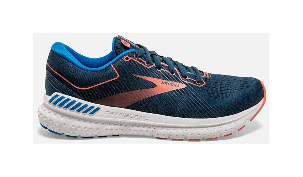 Women's Brooks Transcend 7 Running Shoe - Color: Majolica/Navy (Regular Width) - Size: 6, Orange/Blue, large, image 1