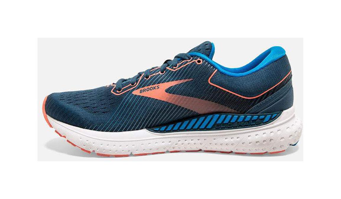 Women's Brooks Transcend 7 Running Shoe - Color: Majolica/Navy (Regular Width) - Size: 6, Orange/Blue, large, image 3
