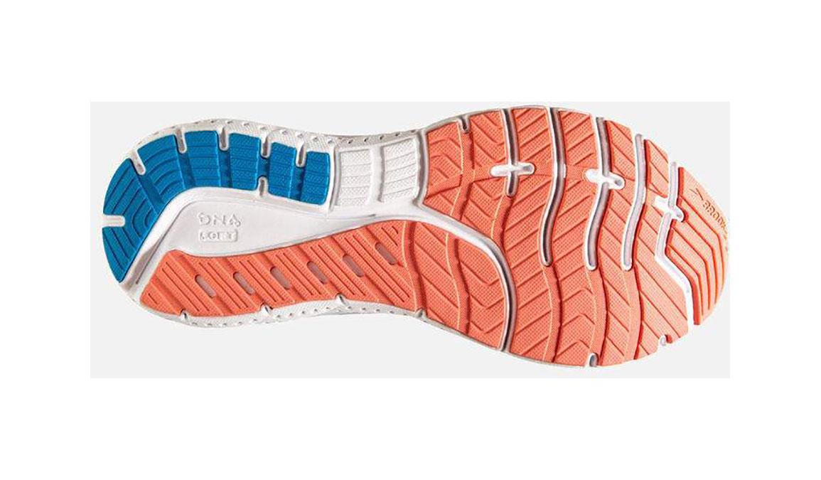 Women's Brooks Transcend 7 Running Shoe - Color: Majolica/Navy (Regular Width) - Size: 6, Orange/Blue, large, image 4