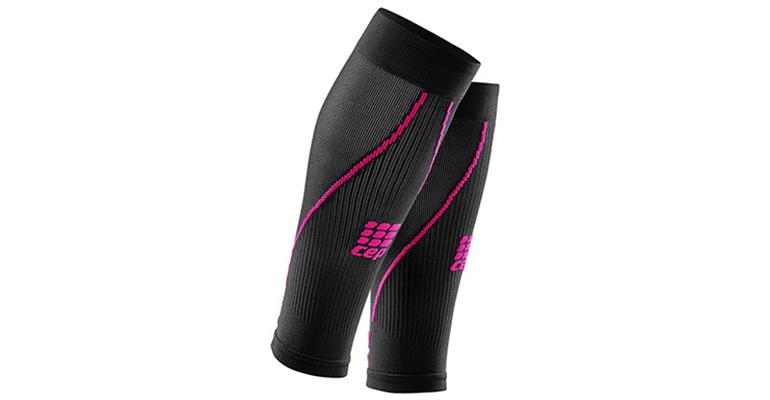 Women's CEP Compression Progressive+ Compression Calf Sleeves 2.0 - Color: Black/Pink - Size: II, Black/Pink, large, image 1