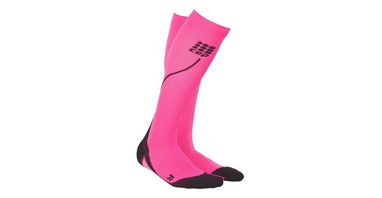 Women's CEP Compression Progressive+ Compression Night Run Socks 2.0 - Color: Flash Pink - Size: III, Pink, large, image 1
