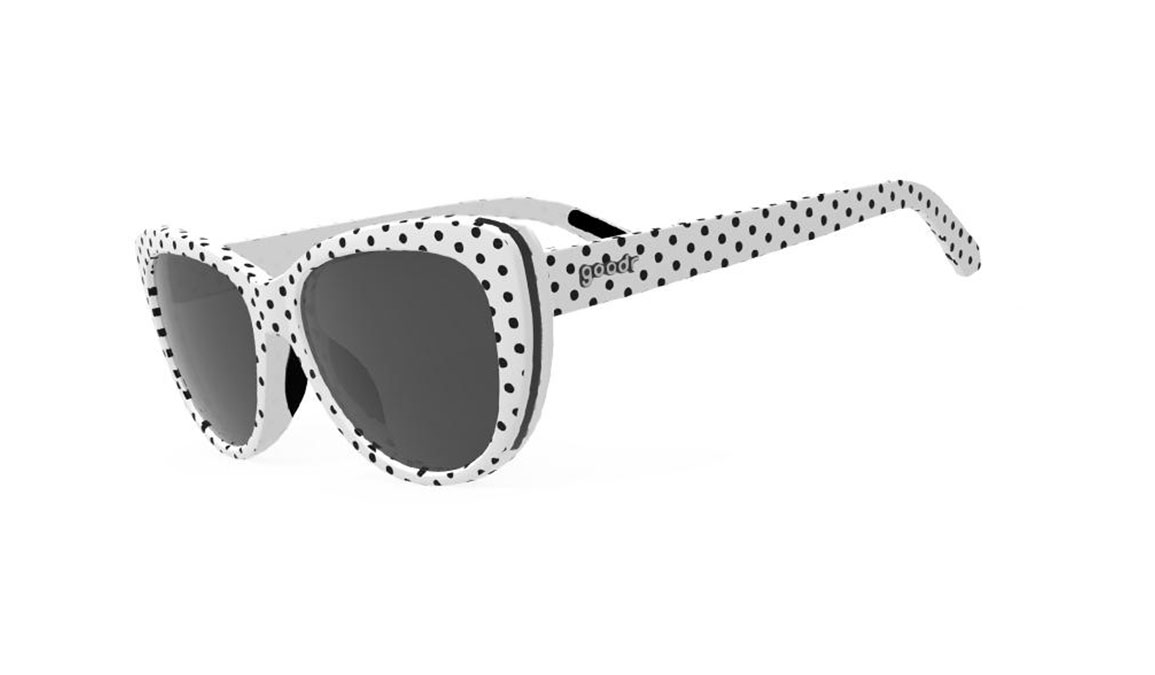 Women's Goodr Polk It Like It's Dot - Color: White/Black Dot Size: OS, White/Black, large, image 1