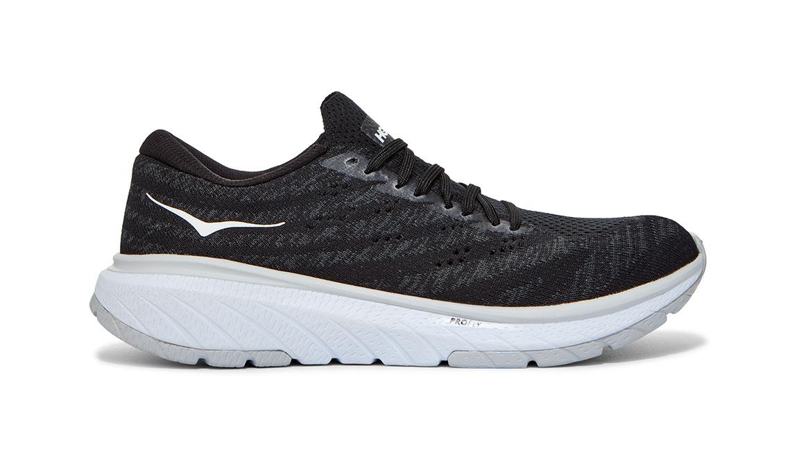 Women's Hoka One One Cavu 3 Running Shoe - Color: Black/White (Regular Width) - Size: 5, Black/White, large, image 1