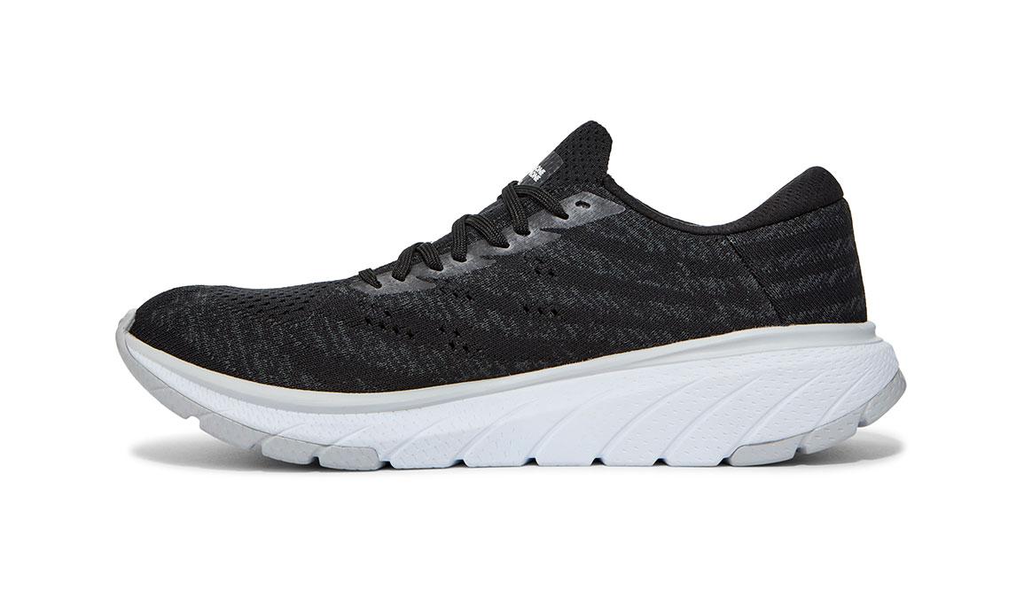 Women's Hoka One One Cavu 3 Running Shoe - Color: Black/White (Regular Width) - Size: 5, Black/White, large, image 2