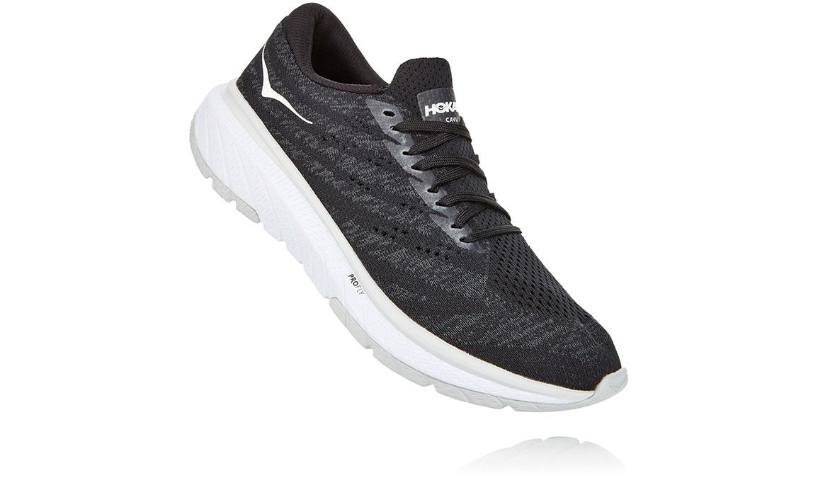 Women's Hoka One One Cavu 3 Running Shoe - Color: Black/White (Regular Width) - Size: 5, Black/White, large, image 3