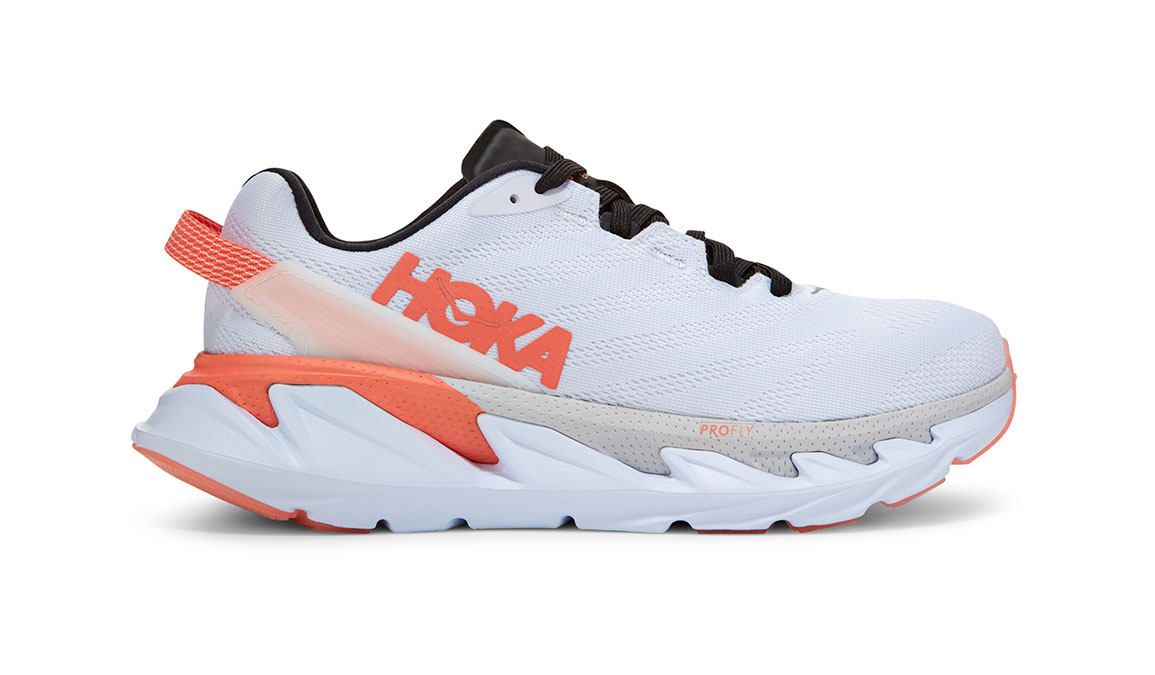 Women's Hoka One One Elevon 2 Running Shoe - Color: White/Nimbus Cloud (Regular Width) - Size: 6.5, White/Nimbus Cloud, large, image 1