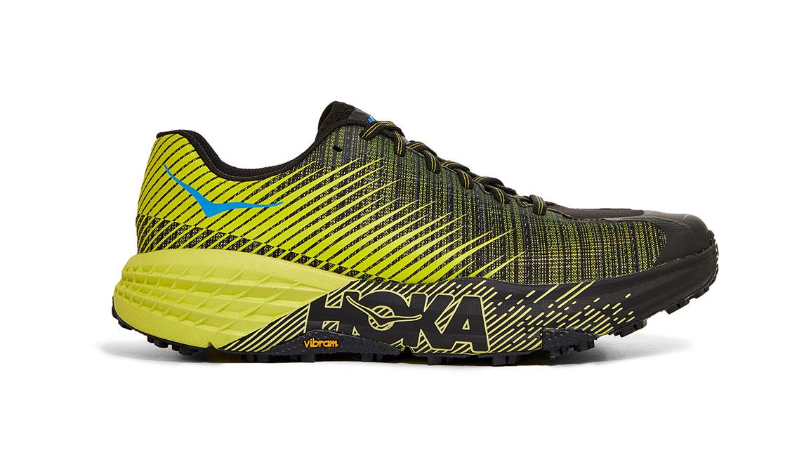 Women's Hoka EVO Speedgoat Trail Running Shoe - Color: Citrus/Black (Regular Width) - Size: 5, Citrus/Black, large, image 1