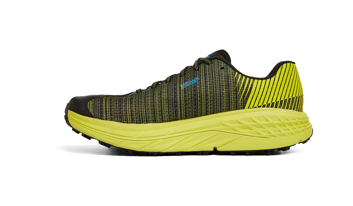 Women's Hoka EVO Speedgoat Trail Running Shoe - Color: Citrus/Black (Regular Width) - Size: 5, Citrus/Black, large, image 2