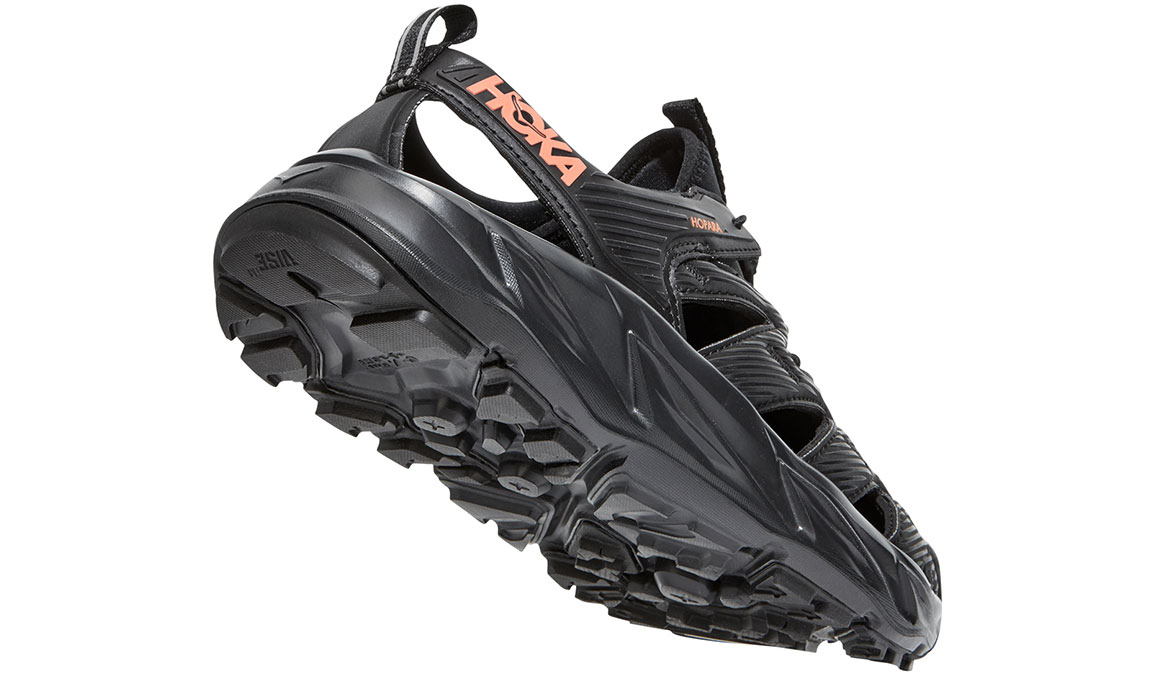 Women's Hoka One One Hopara Hiking Shoe - Color: Black/Fusion Coral (Regular Width) - Size: 5, Black/Fusion Coral, large, image 5