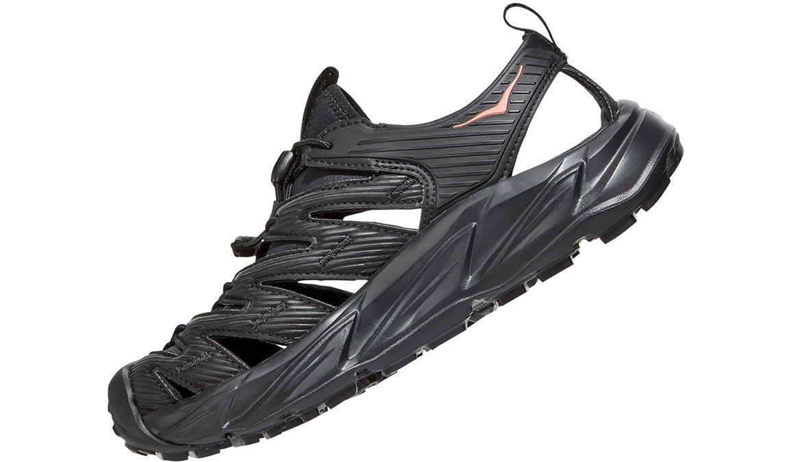 Women's Hoka One One Hopara Hiking Shoe - Color: Black/Fusion Coral (Regular Width) - Size: 5, Black/Fusion Coral, large, image 6