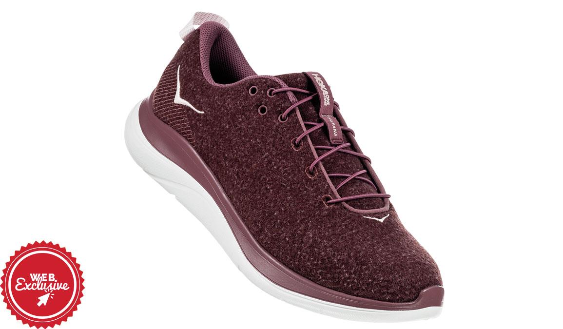 Women's Hoka One One Hupana Flow Wool Running Shoe - Color: Rose Brown/Evening Sound (Regular Width) - Size: 6.5, Rose Brown/Evening Sound, large, image 3