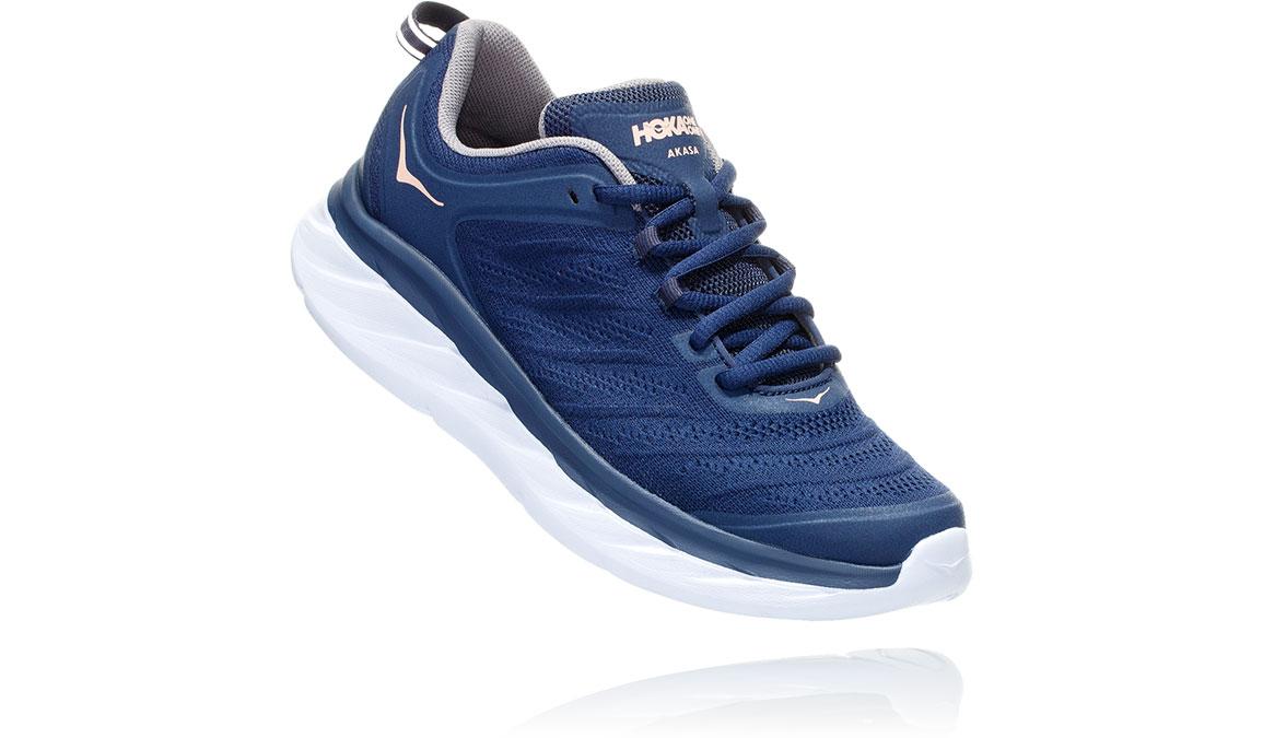 Women's Hoka One One Akasa Running Shoe - Color: Mood Indigo/Dusty Pink (Regular Width) - Size: 6.5, Mood Indigo/Dusty Pink, large, image 2