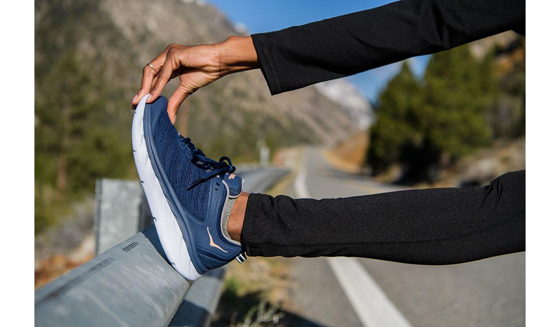 Women's Hoka One One Akasa Running Shoe - Color: Mood Indigo/Dusty Pink (Regular Width) - Size: 6.5, Mood Indigo/Dusty Pink, large, image 7
