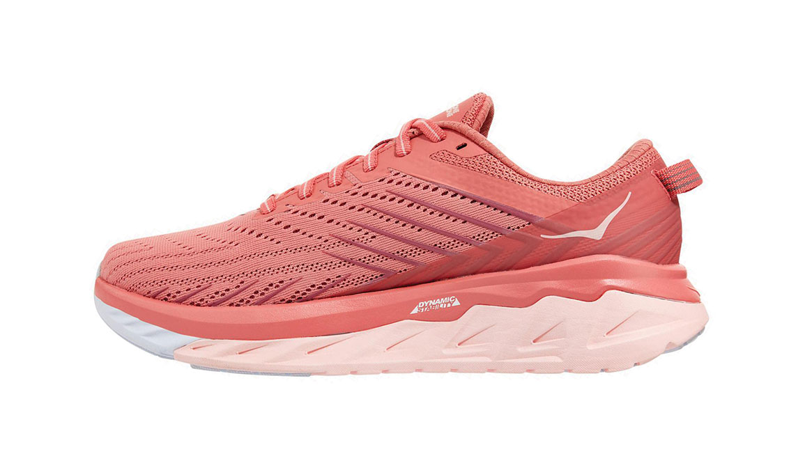 Women's Hoka One One Arahi 4 Running Shoe - Color: Lantana/Heather Rose (Regular Width) - Size: 7, Lantana/Heather Rose, large, image 2