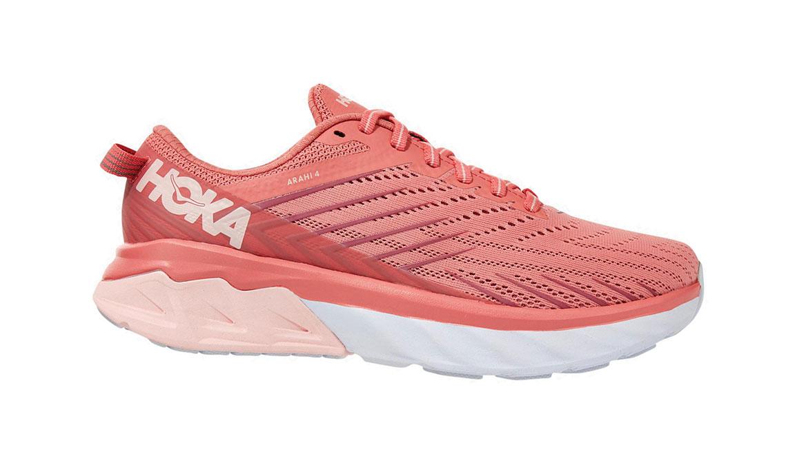 Women's Hoka One One Arahi 4 Running Shoe - Color: Lantana/Heather Rose (Regular Width) - Size: 7, Lantana/Heather Rose, large, image 1