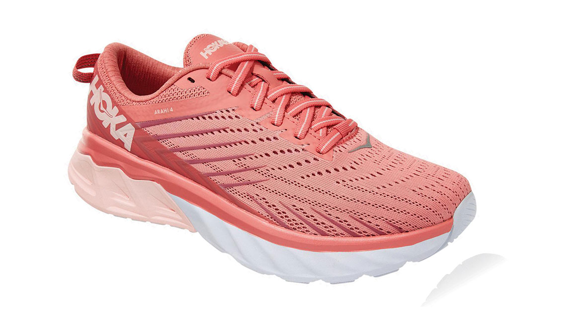 Women's Hoka One One Arahi 4 Running Shoe - Color: Lantana/Heather Rose (Regular Width) - Size: 7, Lantana/Heather Rose, large, image 3