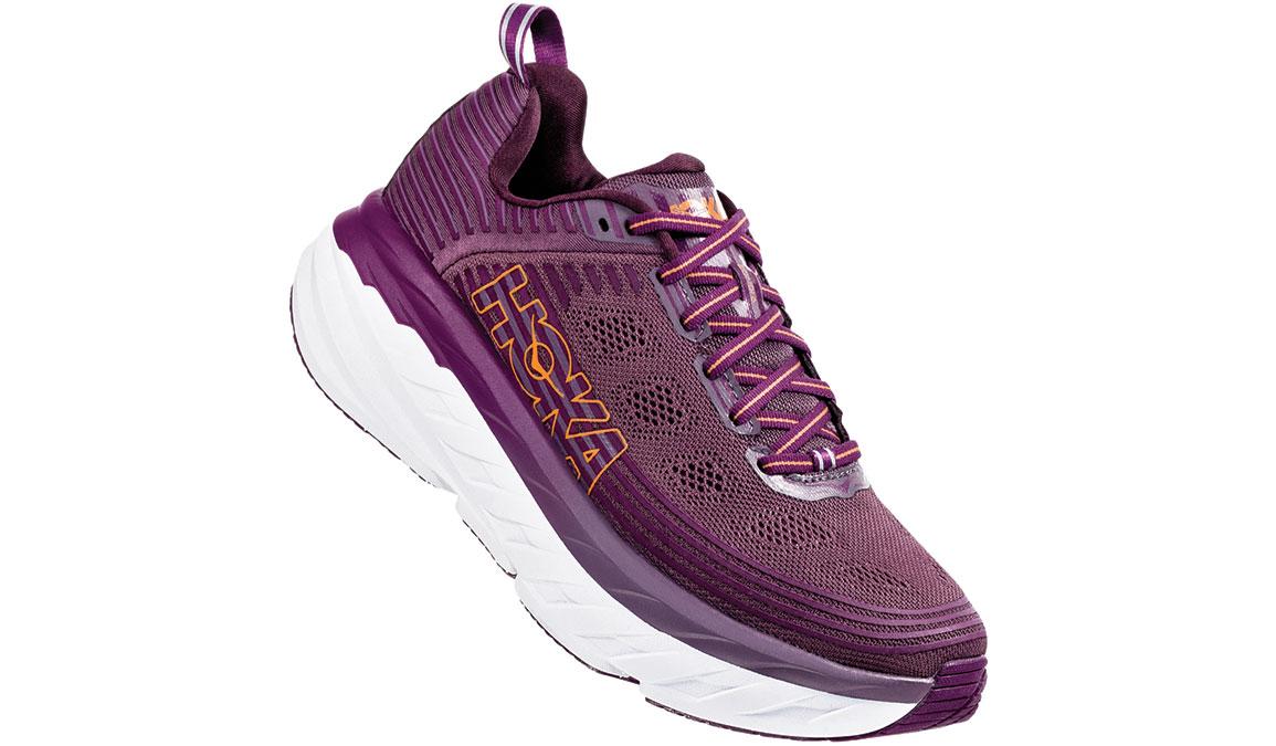 Women's Hoka One One Bondi 6 Running Shoe - Color: Arctic Dusk/Grape Juice (Regular Width) - Size: 5, Arctic Dusk/Grape Juice, large, image 2