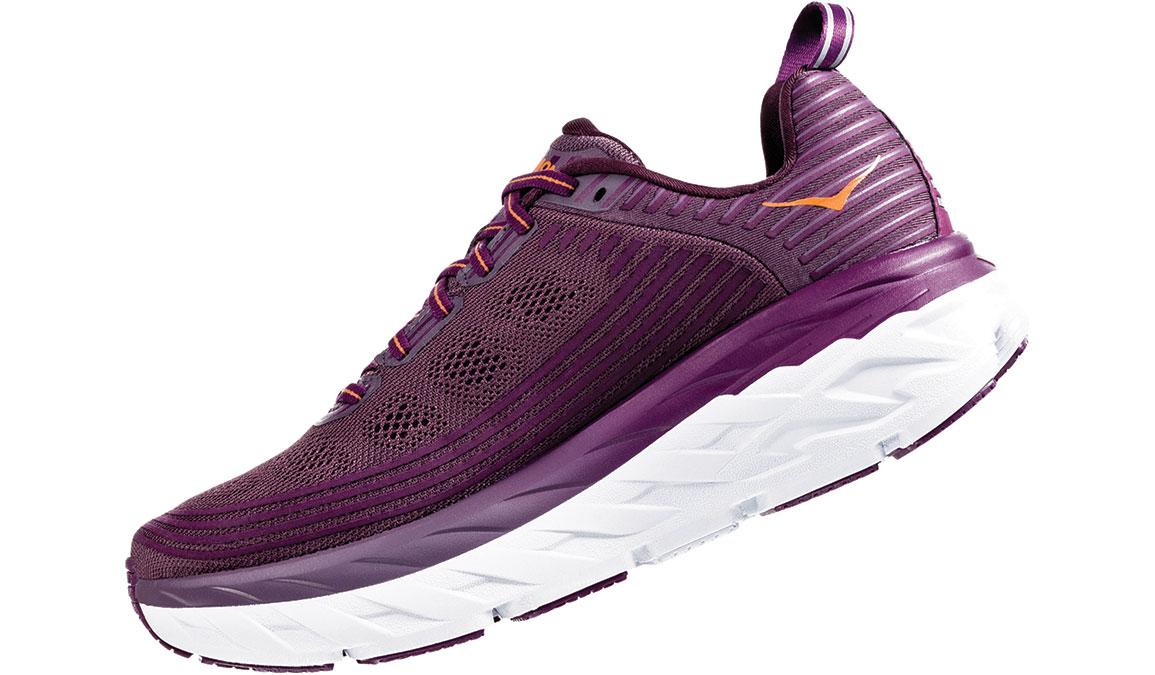 Women's Hoka One One Bondi 6 Running Shoe - Color: Arctic Dusk/Grape Juice (Regular Width) - Size: 5, Arctic Dusk/Grape Juice, large, image 4