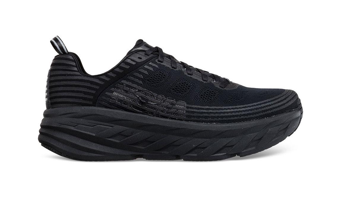 Women's Hoka One One Bondi 6 Running Shoe - Color: Black/Black (Regular Width) - Size: 10, Black/Black, large, image 1