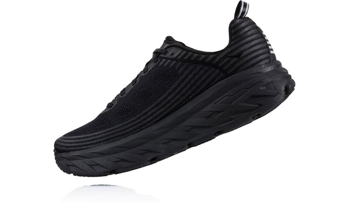 Women's Hoka One One Bondi 6 Running Shoe - Color: Black/Black (Regular Width) - Size: 10, Black/Black, large, image 4